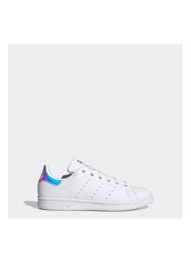 adidas Fx7521-K Stan Smıth J Çocuk Spor Ayakkabı Beyaz Beyaz